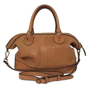 Madewell Berliner Satchel in English Saddle